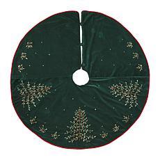 Velvet Ribbon Christmas Tree Skirt