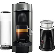 VertuoPlus Coffee   Espresso Single-Serve Machine in Gray and Aeroc...