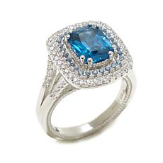 Victoria Wieck 3.29ctw Absolute™ Simulated Sapphire Rin