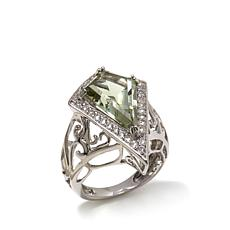 Victoria Wieck 5.08ctw White Topaz and Prasiolite Ring
