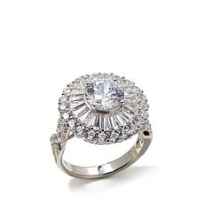Victoria Wieck Absolute™ Round & Baguette Flower Ring