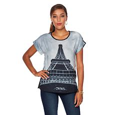 VIDA Artist Series Paris Woven Modern Top