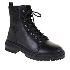 Vince Camuto Bestenda Leather Lace-Up Combat Boot
