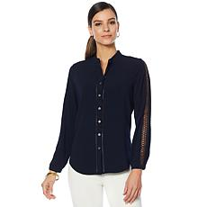 Vince Camuto French Crepe Button-Down Shirt