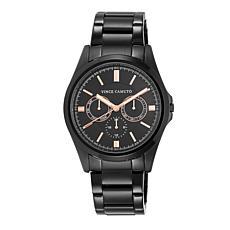Vince Camuto Men's Multi-Function Dial Black Bracelet Watch