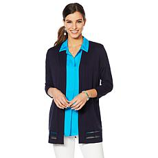 Vince Camuto Novelty Stitch Cardigan