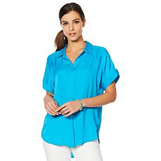 Vince Camuto Oasis Bloom Popover Blouse