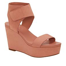 Vince Camuto Velista Leather Platform Wedge Sandal