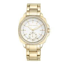 Vince Camuto Women's Crystal Accented Goldtone Bracelet Watch