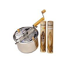 Wabash Valley Farms 3-piece Stainless Steel with Farm Fresh Popcorn