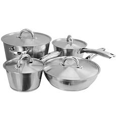 Warwick 8 pc Cookware Set Stainless Steel