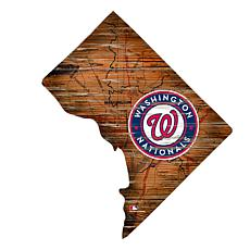 Washington Nationals 24in. Distressed State w/Logo Sign