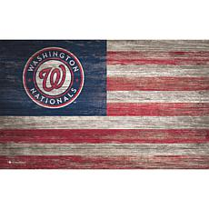 Washington Nationals Distressed Flag 11x19