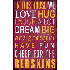 Washington Redskins In This House Sign
