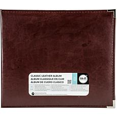 We R Classic Leather D-Ring Album 12X12 - Cinnamon