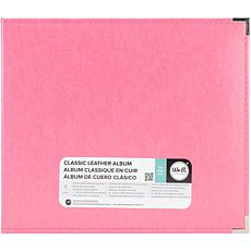 We R Classic Leather D-Ring Album 12X12 - Strawberry