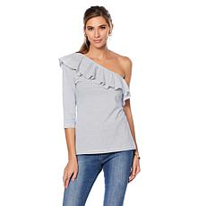 Wendy Williams One-Shoulder Ruffle Detail Top