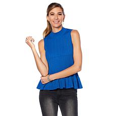 Wendy Williams Sweater Knit Peplum Top