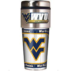 West Virginia Mountaineers Travel Tumbler w/ Metallic Graphics and ...
