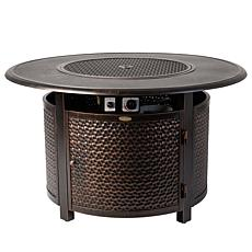 Weyland Round LPG Fire Pit In Antique Bronze