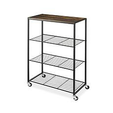 Whitmor Rolling 4-Tier Storage Shelves