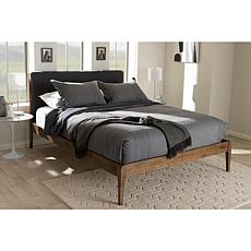 Wholesale Interiors Clifford Fabric and Wood Queen-Size Platform Bed