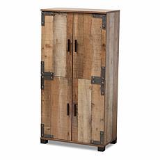 Wholesale Interiors Cyrille Wood 4-Door Shoe Cabinet