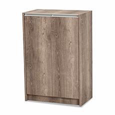 Wholesale Interiors Langston Wood 2-Door Shoe Cabinet