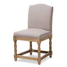 Wholesale Interiors Paige Upholstered Dining Chair-Weathered Oak/Beige