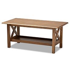 Wholesale Interiors Reese Rectangular Wood Coffee Table