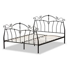 Wholesale Interiors Selena Black Metal Platform Bed - Queen