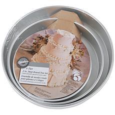 "Wilton Cake Pan Set - 6"", 8"", 10"" and 12"" Round"