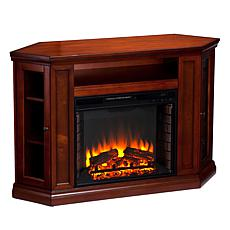 Wimberly Convertible Media Fireplace - Brown Mahogany