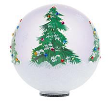 Wind & Weather Christmas Tree Painted Glass Globe