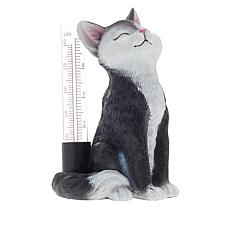 Wind and Weather Smiling Kitty Rain Gauge