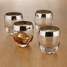 Wine Enthusiast Set of 2  Whiskey Glasses