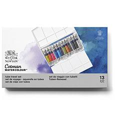 WINSOR  AND  NEWTON Cotman Water Colour Painting Plus Set - Tubes each