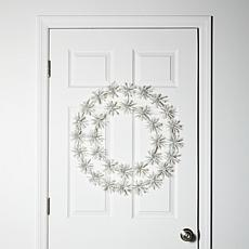 "Winter Lane 24"" LED Snowflake Christmas Wreath"