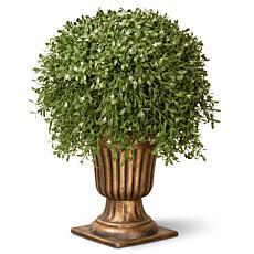"Winter Lane 26"" Artificial Topiary Argentea Plant w/Urn"