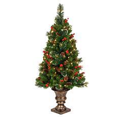 Winter Lane 4'  Crestwood Spruce Entrance Tree w/Lights