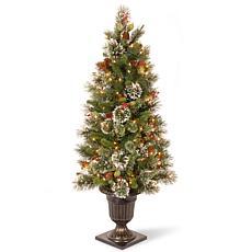 Winter Lane 4' Wintry Pine Entrance Tree w/Lights