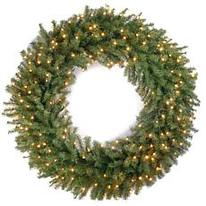 "Winter Lane 48"" Norwood Fir Wreath w/Lights"