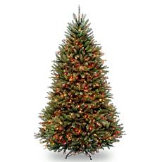 Winter Lane 6-1/2' Dunhill Fir Hinged Tree w/Multicolor