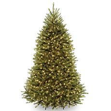 Winter Lane 7-1/2' Dunhill Fir Hinged Tree w/Lights