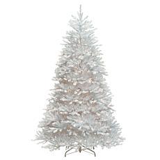 Winter Lane 7-1/2' Dunhill Fir  White Tree w/Lights