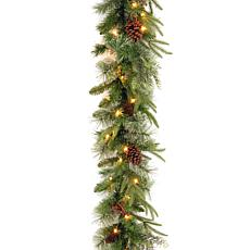 "Winter Lane 9' Colonial ""Feel Real"" Garland w/Lights"