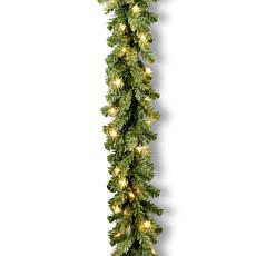 Winter Lane 9' Kincaid Spruce Garland w/Lights