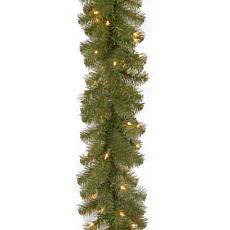 Winter Lane 9' N. Valley Spruce Garland w/Lights