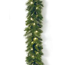 Winter Lane 9' Winchester Pine Garland w/Lights