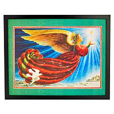 Winter Lane Angel Fiber-Optic Christmas Canvas Art